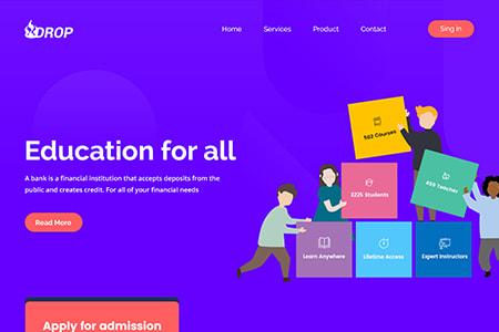 教育网站落地页模板