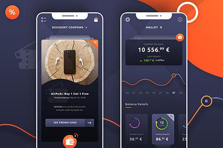 钱包折扣券应用程序APP UI设计