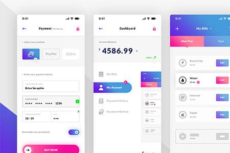 移动钱包支付应用UI界面设计