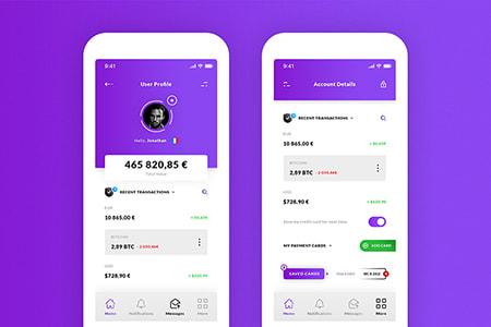 个人钱包帐户信息App设计