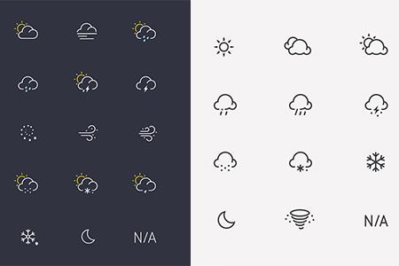 简单的天气状态图标