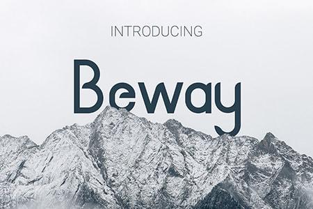 Beway英文现代品牌字体