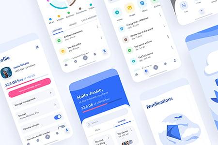Cloud Storage云存储应用 App 界面设计