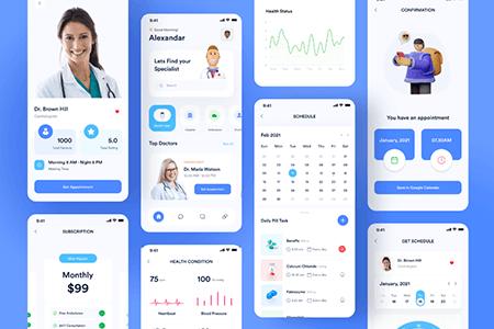 健康医疗应用 App Ui界面
