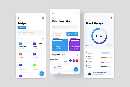 云储存应用文件管理 App Ui Kit 界面