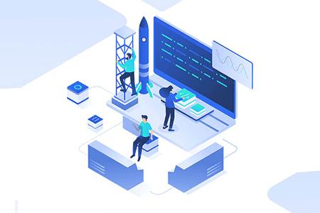 5张移动应用与网络开发场景插画设计