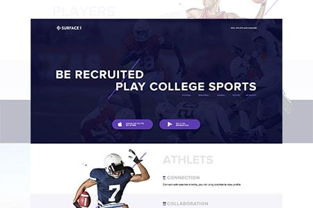 Sport体育运动宣传落地页