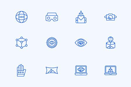 30枚虚拟现实元素图标