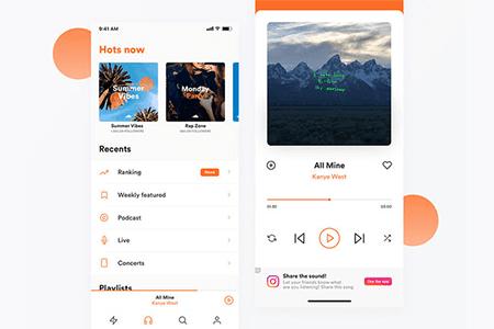 SoundCloud iOS 音乐应用界面设计