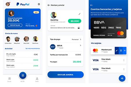 PayPal 钱包支付应用界面设计