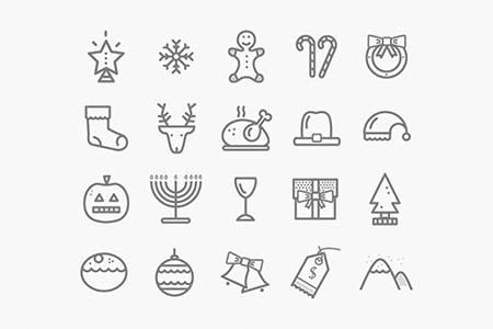 20枚圣诞元素图标