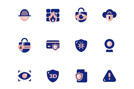 24个网络安全相关的图标