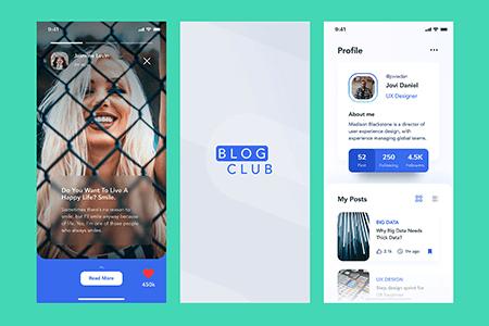 BLOG博客社交应用Ui界面设计