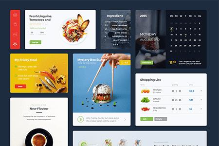 饮食网页UI 组件元素