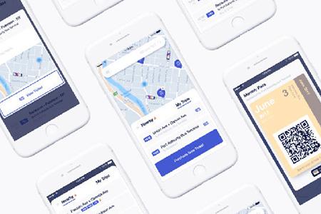 NJ过境地图导航应用界面