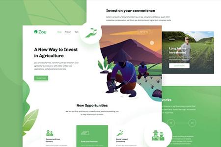 Zou绿色农业落地页网页模版