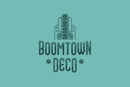 Boomtown装饰艺术建筑字体