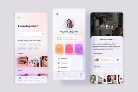 美妆美容应用App Ui界面