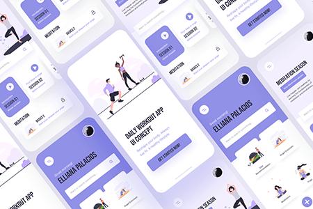 Fitness健身锻炼 App UI界面