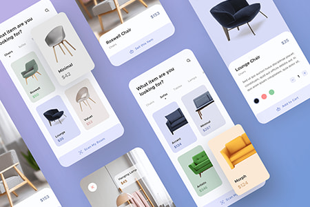 家具电商应用程序UI界面