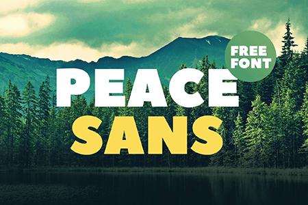 Peace Sans免费品牌粗体字体