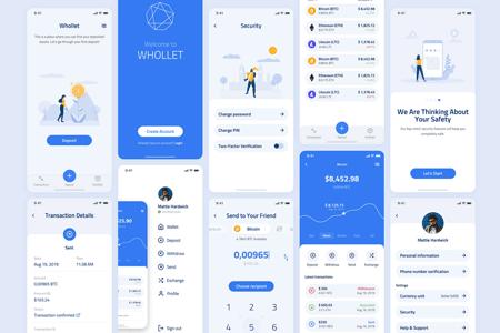 Whollet-区块链加密货币UI界面