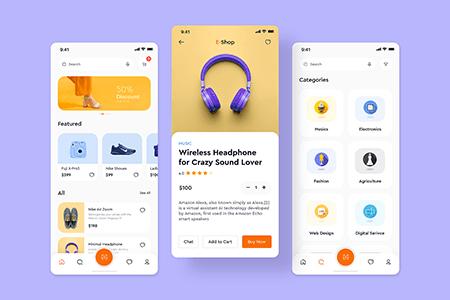 清爽简约电商应用 App Ui 界面设计