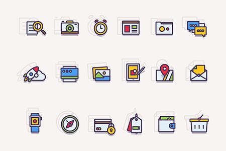 18种Web插图图形图标