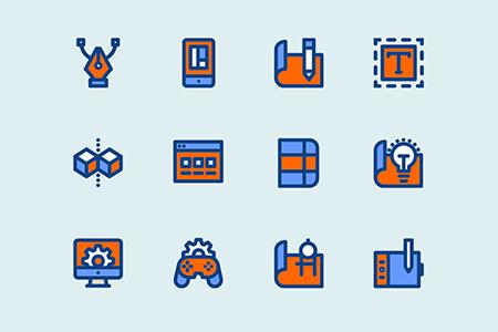 12种设计和开发图形图标