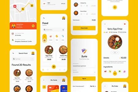 Zurio餐饮外卖美食 App UI界面设计
