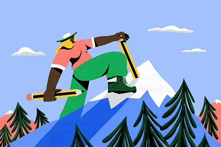 充满欢乐,色彩丰富的网页动画插图