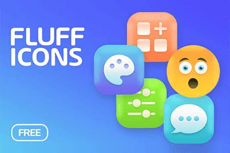 Fluff多彩元素图标素材