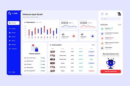 金融CRM dashboard 界面设计