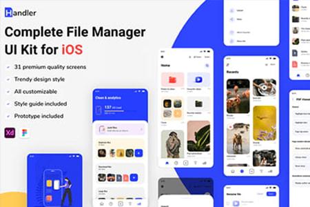 Handler 适用于iOS的文件管理器App UI Kit 界面包