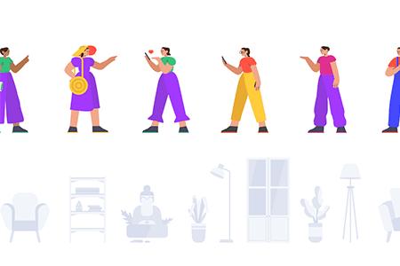 丰富多彩的网页APP UI插画设计