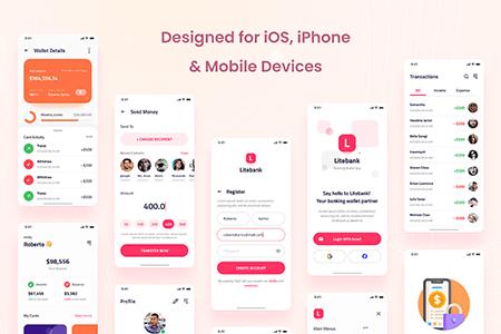 简洁金融银行App Ui界面设计