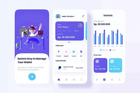 移动电子钱包账户App Ui界面设计