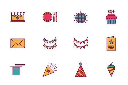 50枚生日派对图标