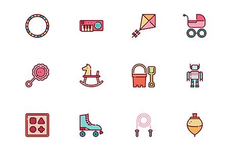 30 枚儿童游戏玩具图标