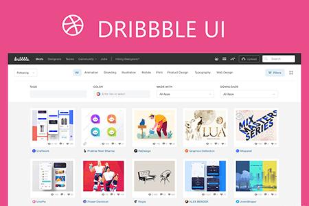 dribbble首页网页UI设计源文件