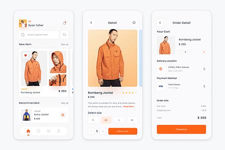 时尚服装电商App Ui 界面