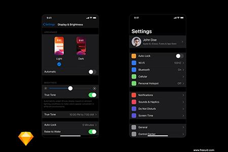 iOS 13 Darkmode设置暗黑模式UI界面设计