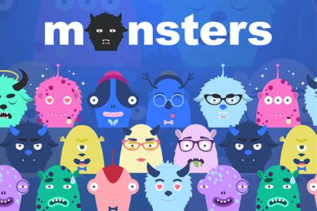 9枚卡通可爱怪兽插画
