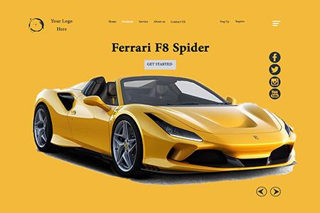 汽车网站首页幻灯片概念设计