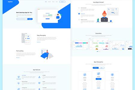 AppSon移动应用程序官网页面设计