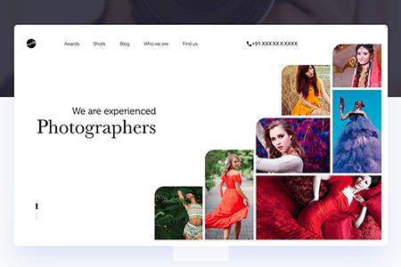 摄影师作品集工作室网页模板