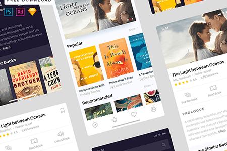 Book App书籍预订界面设计
