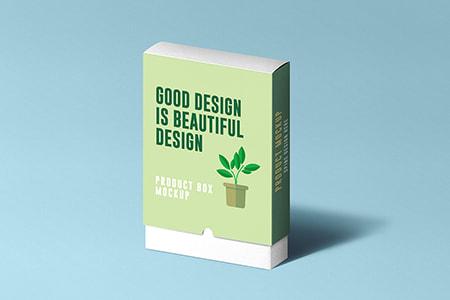 纸质产品盒模型
