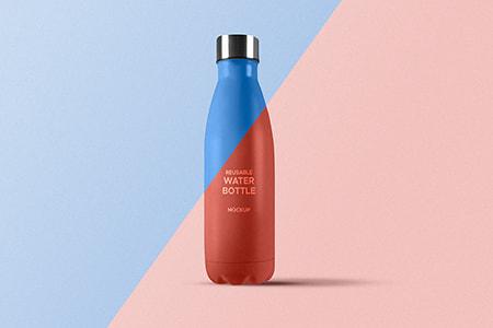 可重复使用的水瓶模型