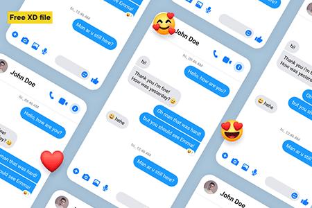 Messenger 聊天交流信息UI界面设计